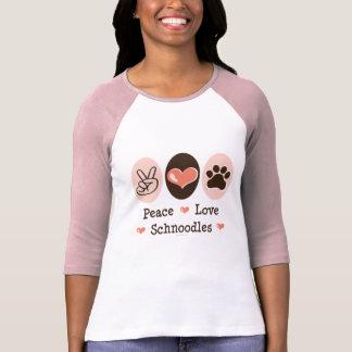 T-shirt Tee - shirt de raglan de Schnoodles d'amour de