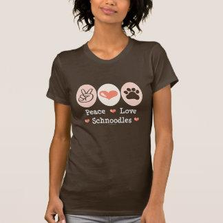 T-shirt Tee - shirt de Schnoodles d'amour de paix