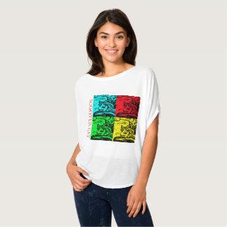 T-shirt Tee - shirt débordant - présentation du chat de