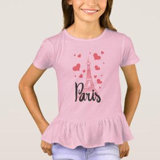 T-shirt Tee Shirt Ébouriffer Fille Paris
