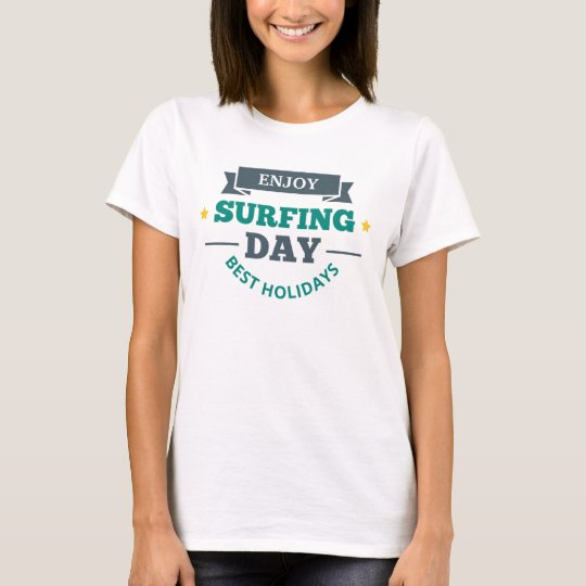 T-shirt Tee shirt Femme Blanc Basic Surf