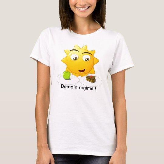 T-shirt Tee shirt femme Demain régime !