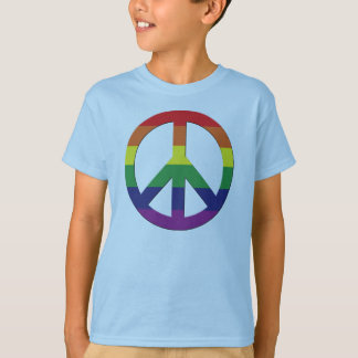 T-shirt Tee - shirt graphique gai - paix Sign_03