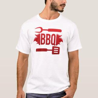 T-shirt Tee Shirt Homme Blanc Barbecue