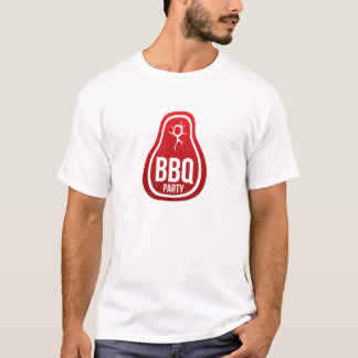 T-shirt Tee Shirt Homme Blanc Barbecue Basic