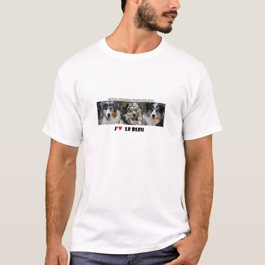 "T-shirt Tee-Shirt ""J'aime le bleu"""