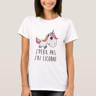 T-shirt Tee shirt JE PEUX PAS J'AI LICORNE