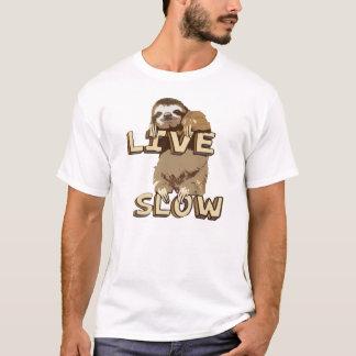 T-shirt Tee - shirt lent vivant de paresse drôle