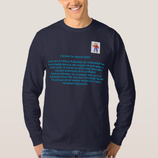 T-shirt Tee shirt manches longues bleu XL Clément Aplati