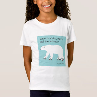 T-Shirt Tee - shirt - ours blanc, plaisanterie de patinage