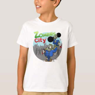 T-shirt Tee shirt Zombies City blanc