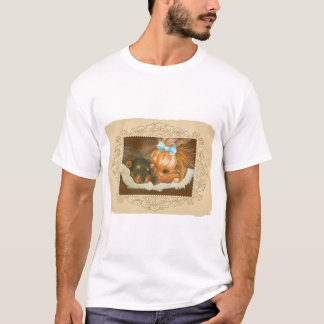 T-shirt Tee - shirts de portrait de maman et de chiot de