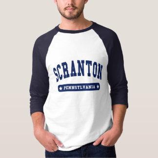 T-shirt Tee - shirts de style d'université de Scranton