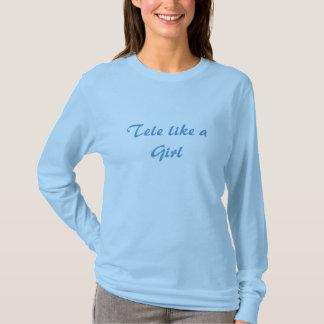 T-shirt Télé- comme une pièce en t de la fille LS