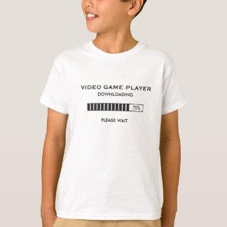 T-shirt Téléchargement de joueur de jeu vidéo