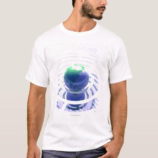 T-shirt Télécommunication mondiale, ordinateur conceptuel
