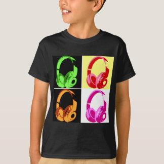 T-shirt Téléphone de tête d'art de bruit d'écouteur de