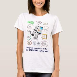 T-shirt Téléphone portable comme outil de sécurité