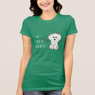 T-shirt TELLEMENT TRÈS JOYEUX ! Lumières de Noël de Bichon