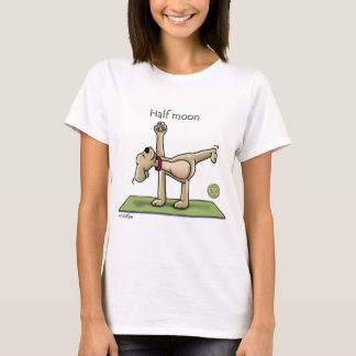 T-shirt Temps de yoga de demi-lune