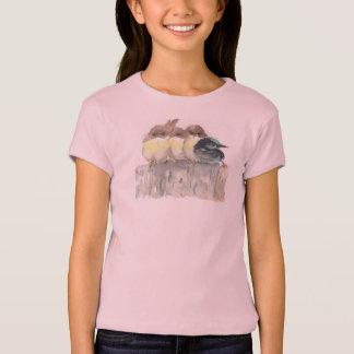 T-shirt Tenez-vous !  Quatre petits oiseaux, un tient un