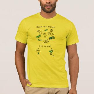T-shirt Tenir des animaux. Ne pas mange-les pas