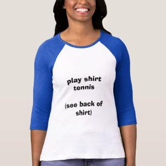 T-shirt Tennis de chemise de jeu