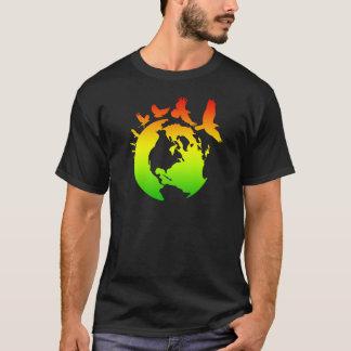 T-shirt Terre avec des oiseaux