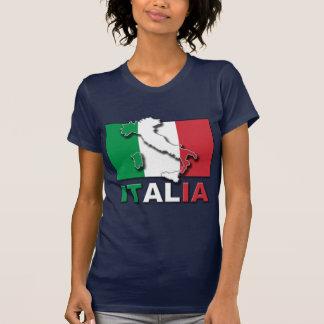 T-shirt Terre de drapeau de l'Italie