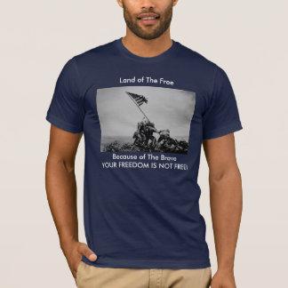 """T-shirt """"Terre du libre, en raison"""" de l'Iwo Jima"""