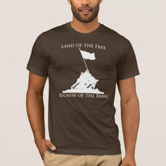 T-shirt Terre du libre, en raison du courageux : Iwo Jima