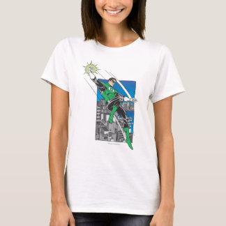 T-shirt Terres vertes de lanterne dans la ville