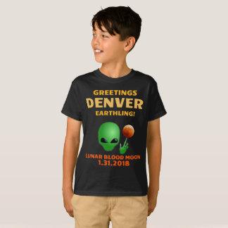 T-shirt Terrien de Denver de salutations ! Éclipse lunaire