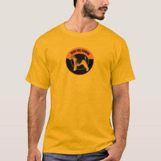 T-shirt terrier de renard de fil de chien