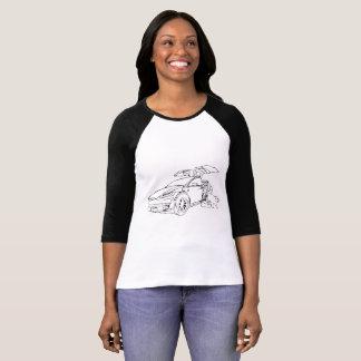 T-shirt Tesla X modèle w/Dog, noir, 3/4 douille, noire