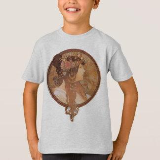 T-shirt Tête bizantine d'Alphonse Mucha, la brune