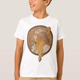 T-shirt Tête bizantine de ~ d'Alphonse Mucha : La blonde