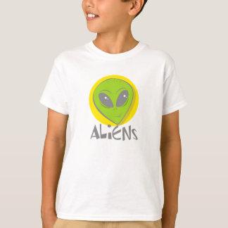 T-shirt Tête d'aliens