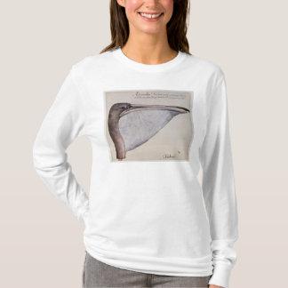T-shirt Tête d'un pélican de Brown