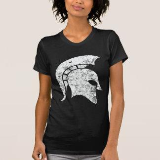 T-shirt Tête spartiate d'Affliger-Regard (blanche)