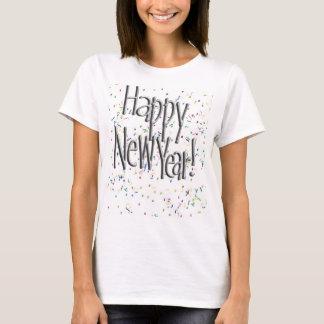 T-shirt Texte argenté de bonne année