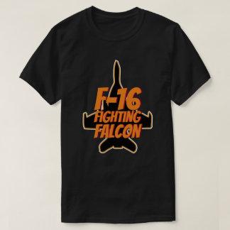T-shirt Texte de combat d'orange du faucon F-16