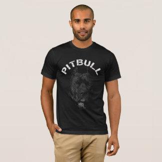 T-shirt Texte de portrait de Pitbull