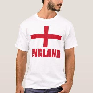 T-shirt Texte de rouge de drapeau de l'Angleterre