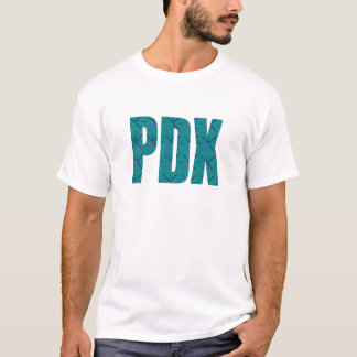 T-shirt Texte de tapis d'aéroport de PDX Portland