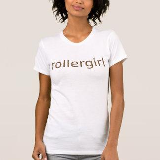 T-shirt texte orange de texture de rollergirl
