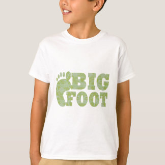 T-shirt Texte vert de Bigfoot de camouflage