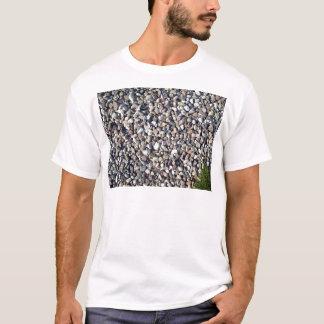 T-shirt Textures de la plante en pierre et verte