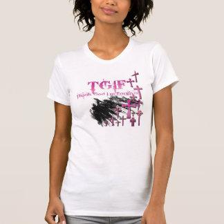 T-shirt TGIF = remercient Dieu que je suis pardonné