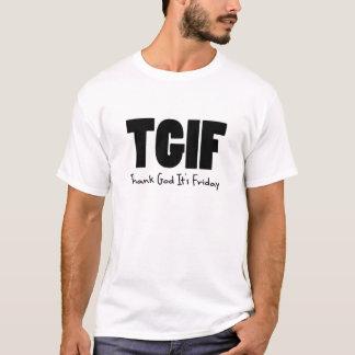 T-shirt TGIF remercient Dieu son vendredi